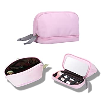 Amazon.com: wyqn maquillaje bolsa de viaje con espejo/correa ...
