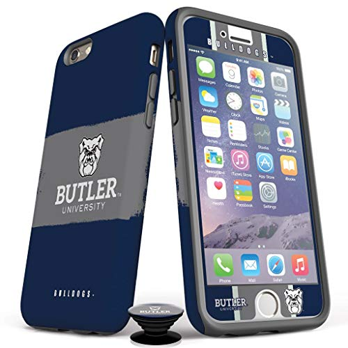 Phone Accessory Bundle for iPhone 7/8 - Screen Protector, Matte iPhone Case, and Cell Phone Grip with Butler Design -