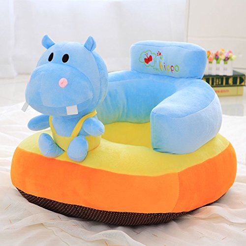 Children Cartoon Plush Chair - Home Tatami Baby Sitting Chair Blue Hippo Kids' Gifts on Christmas 15 X 16 Inch by bigxxx