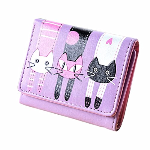 luniwei-women-cat-print-buckle-bifold-clutch-purse-handbag-card-holder-insert-organizer-wallet