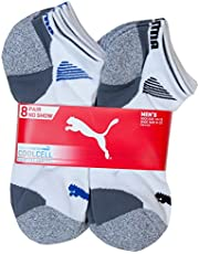 PUMA mens 8 Pack Low Cut Socks