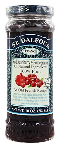 St. Dalfour - Fruit Spread 100% Natural Jam Red Raspberry & Pomegranate - 10 (St Dalfour Raspberry Fruit)