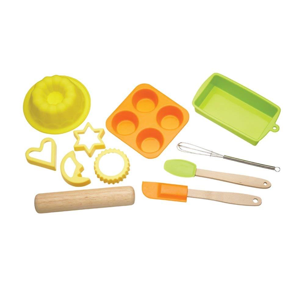 per bambini Kitchen Craft Lets Make Set 11 pezzi da forno in silicone