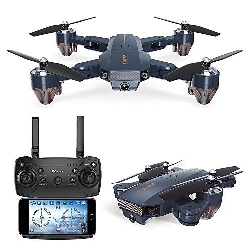 (HELLOSAY FQ777 FQ35 2.4GHz RC Airplanes Drone with 720P HD Camera Wi-Fi 4 Channels Quadcopter with Altitude Hold Foldable Arms 6-axis Gyro)
