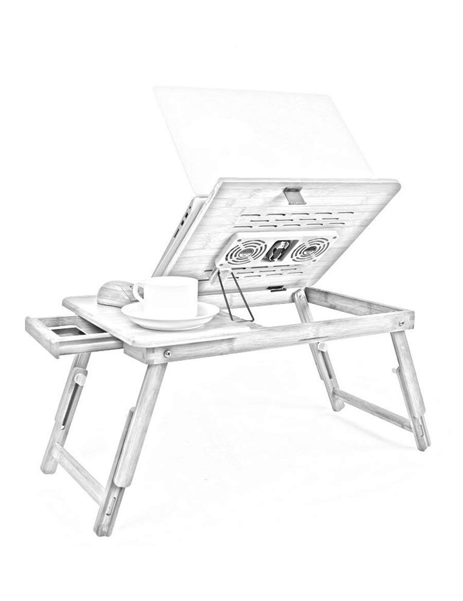 JZX Lazy Table-Folding Table Foldable Legs Can Lift Bed with Computer Desk Notebook Stand Simple Move Desk Save Space