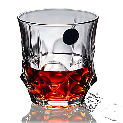 Whiskey Glasses, Scotch Glasses - Set Of 6. Unique, Elegant, Dishwasher Safe, Glass Liquor or Bourbon Tumblers. Ultra-Clarity - Stores Avenue 5th Best On