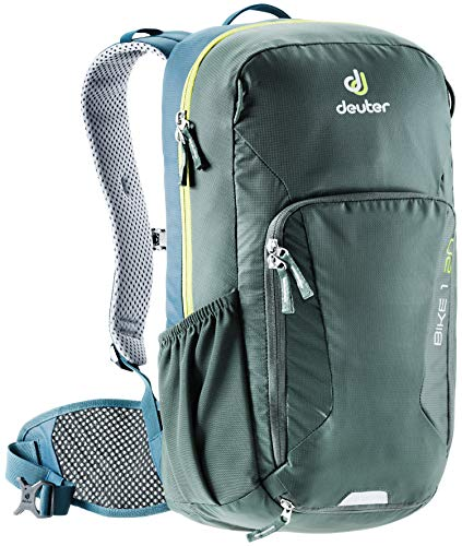 Deuter Bike I 20 Men's 20 Liter Backpack with Breathable Back and Adjustable Straps | Hydration Compatible, Rain Cover, and Compartments for Hiking, Skiing, Biking, and School - Ivy/Arctic