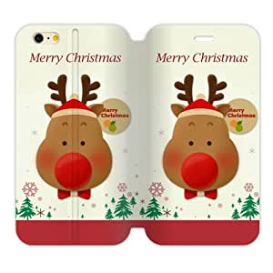 Generic Custom Personalized Design Jesus Santa Claus Christmas Tree Merry Christmas and Happy New Year TPU and High Grade PU Leather Cover iPhone6