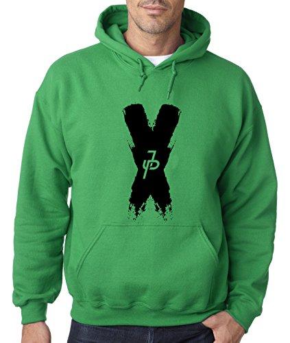 New Way 821 - Adult Hoodie Jake Paul X Team 10 Unisex Pullover Sweatshirt XL Kelly Green