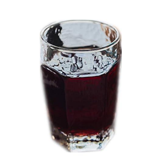 qwdf Vidrio Resistente al Calor Copa de Bebida Transparente Taza ...