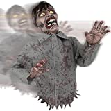 Bump And Go Animated Rolling Zombie Prop Halloween Decoration With Sounds