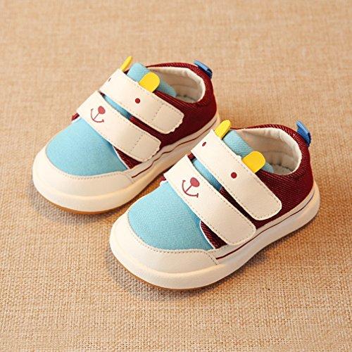 La Vogue Bebes Unisex Zapatos de Deportivo Primavera Azul Blanco Café