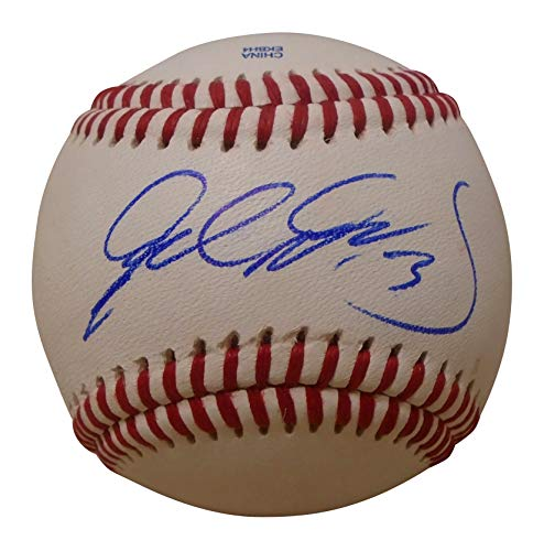 Texas Rangers Delino Deshields Jr. Autographed Hand Signed Baseball with Proof Photo of Signing and COA