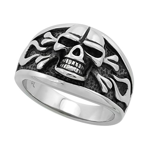 Stainless Steel Skull Crossbones Cigar