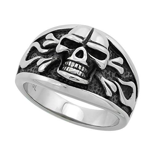 Stainless Steel Skull Crossbones Cigar