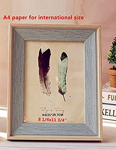 leyoubei Retro Frame Simple frame for documents or photographs-Decorative picture on the wall/Thick frame Pack of 1 (8 1/4x11 3/4