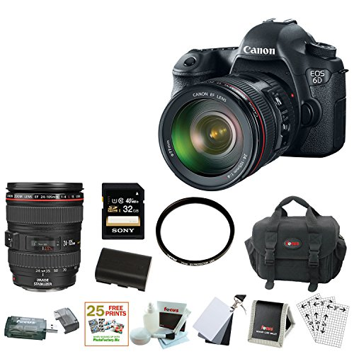 Canon EOS 6D Digital Camera with 24-105mm f/4.0L IS USM AF