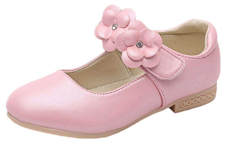9cd99b0cf2c98 Bevalsa Bébé Fille Princesse Chaussures Ballerines Mary Jane Chaussures  Étudiants Chaussures en Cuir Chaussures de Danse Enfants Ballet Arc Bow  Strappy ...