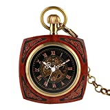 Retro Pocket Watch, Steampunk Gear Skeleton Mechanical Hand Winding Pocket Watch, Creative Hollow Pocketwatch