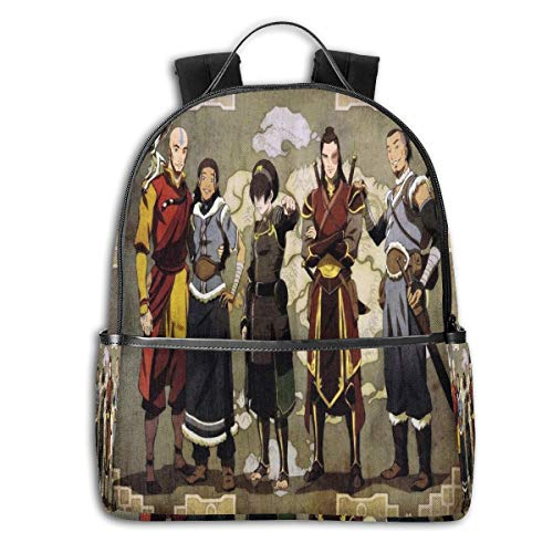 Avatar The Last Airbender Unique Boutique Black Side Backpack For Boys Girls Or Adult