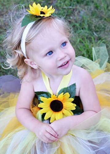 f9448a9627a97 Amazon.com: Sunflower Tutu Dress, Flower Girl Dress, Sunflower ...