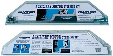 Stainless Steel Panther Marine 55-2600 Auxiliary Motor Steering Kit Renewed