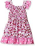Hatley Little Girls Strawberry Sundae - Mix Match Smocked Dress, Pink, 2T