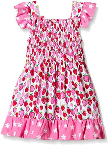 Hatley Little Girls Strawberry Sundae - Mix Match Smocked Dress, Pink, 2T by Hatley