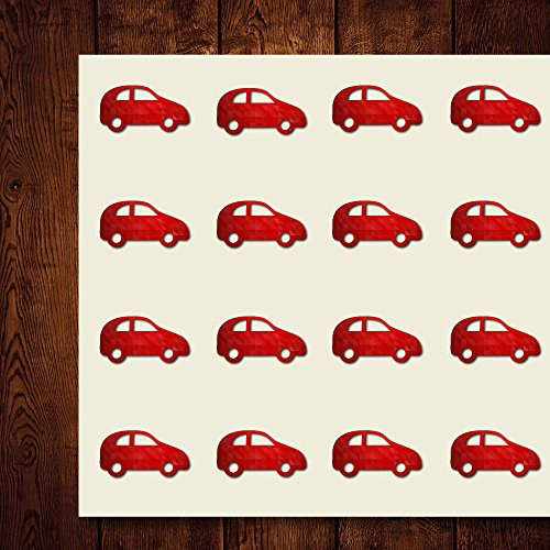 Hatch Back Car Craft Stickers, 44 Stickers at 1.5 Inches, Great Shapes for Scrapbook, Party, Seals, DIY Projects, Item 1321743 ()