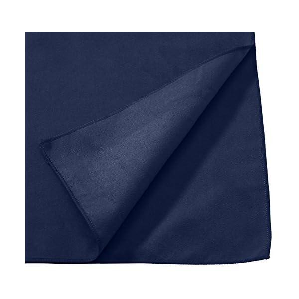 AmazonBasics - Asciugamano da bagno in microfibra, Microfibra, nero/blu, Bagno 2 spesavip