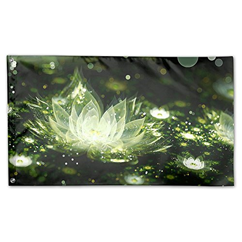 YUANSHAN Home Garden Flag Water Silver Lily Flower Polyester Flag Indoor/Outdoor Wall Banners Decorative Flag Garden Flag 3' X 5'