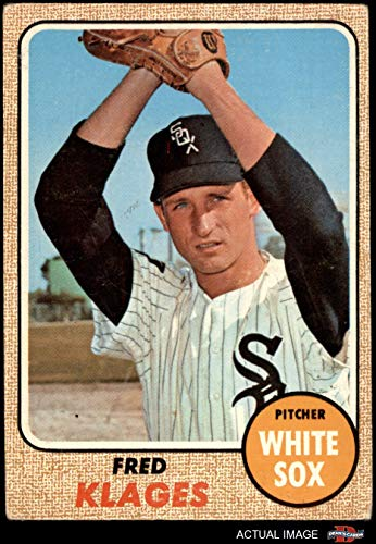 1968 Topps # 229 Fred Klages Chicago White Sox (Baseball Card) Dean's Cards 4 - VG/EX White Sox