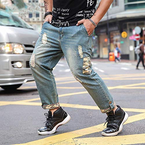 Pantalones Rectos Fit tee Baggy Pantalones Retro Pantalones Verano Sueltos Jeans Pantalones Jeans Hellblau Ssige Vaqueros Vaqueros Moda Casuales Hombres Vaqueros De Slim De Pantalones La xqFfnCH