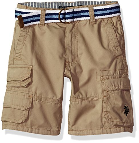 U.S. Polo Assn. Boys Belted Washed-Twill Cargo Short