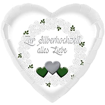 Zur Silberhochzeit Alles Liebe Helium Ballon ø 45cm
