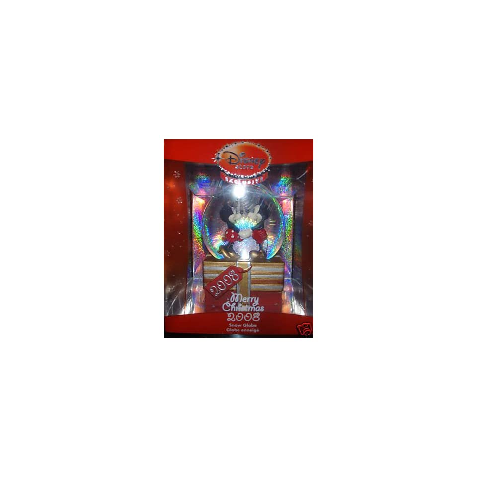 Exclusive Mickey & Minnie Mouse 2008 Snow Globe