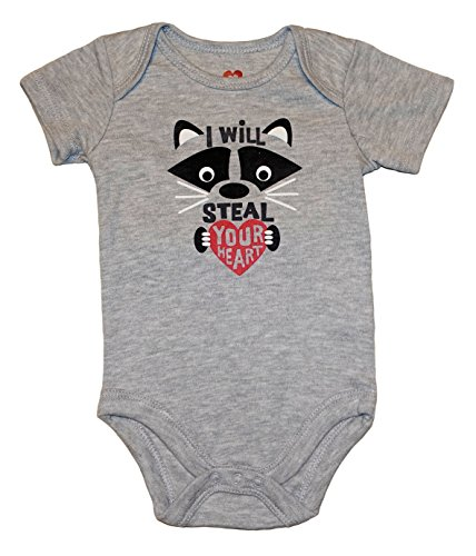 I WILL STEAL YOUR HEART Racoon Baby Boys Bodysuit Dress Up Outfit (0-3 Months) -