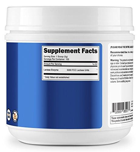 Nutricost Lactase Powder 500 Grams - Pure, Non-GMO, Gluten Free, High Quality Lactase Powder by Nutricost (Image #3)