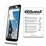 EZguardz Premium Real Tempered Glass Screen Protector Cover For Motorola Nexus 6