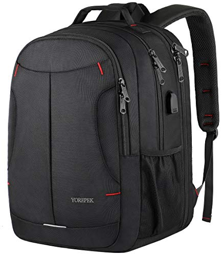 - Laptop Backpack,Extra Large Travel Laptop Computer Backpack for Men Women,TSA Durable USB Backpack with Luggage Sleeve,Water Resistant Big Business College School Bookbag Fits 17 Inch Laptops