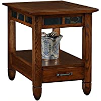 Bowery Hill Storage End Table in a Rustic Oak Finish