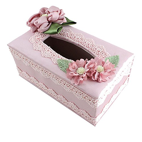 Tissue Box Cover Paper Napkin Box Dispenser for Home Office Car Decor by YANXH home