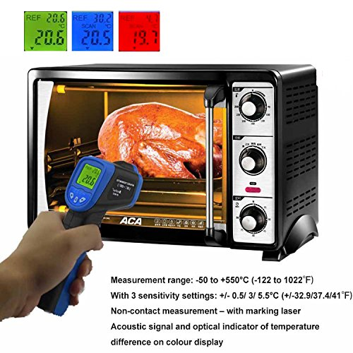 HOLDPEAK 981C Non-Contact Digital Laser Infrared Thermometer Temperature Gun Instant-read -58 to 1022℉ (-50 to 550℃) with 9V Battery and Emissivity 0.1-1.0(Adjustable) by H HOLDPEAK (Image #5)