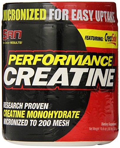 SAN Nutrition Performance Creatine - Creatine Monohydrate Supplement, 12 Pack of 60-Serving Bottles by SAN