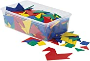 hand2mind Plastic Tangrams, Manipulative Set for Math Puzzles (Pack of 32)