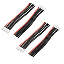 4Pcs 22.2V 6S LiPo Battery Balance Charger Cable Lead Wire Connector