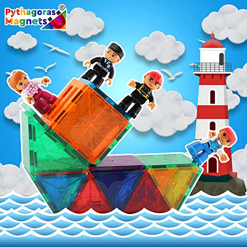 Pythagoras Magnets Entire Collection Includes 3 Magnetic Figure Sets, Car, Helicopter, Motorbike, Plane Sets. Let Your Kids Imaginations Have No Limits by Pythagoras Magnets (Image #1)