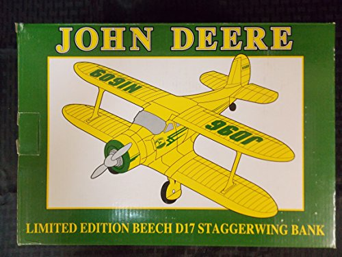 John Deere Limited Edition Beech D17 Staggerwing Bank, 1996, Vintage