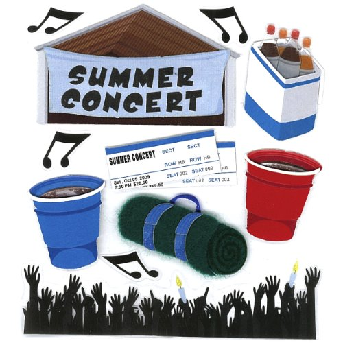 Jolee's Boutique Summer Concert Dimensional Stickers Concert Decal