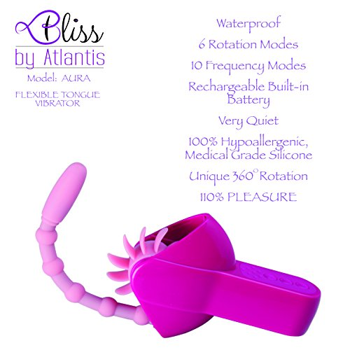 Adult Sex Toy For Woman Oral Sex Licker and G Spot Vibrator by Bliss®